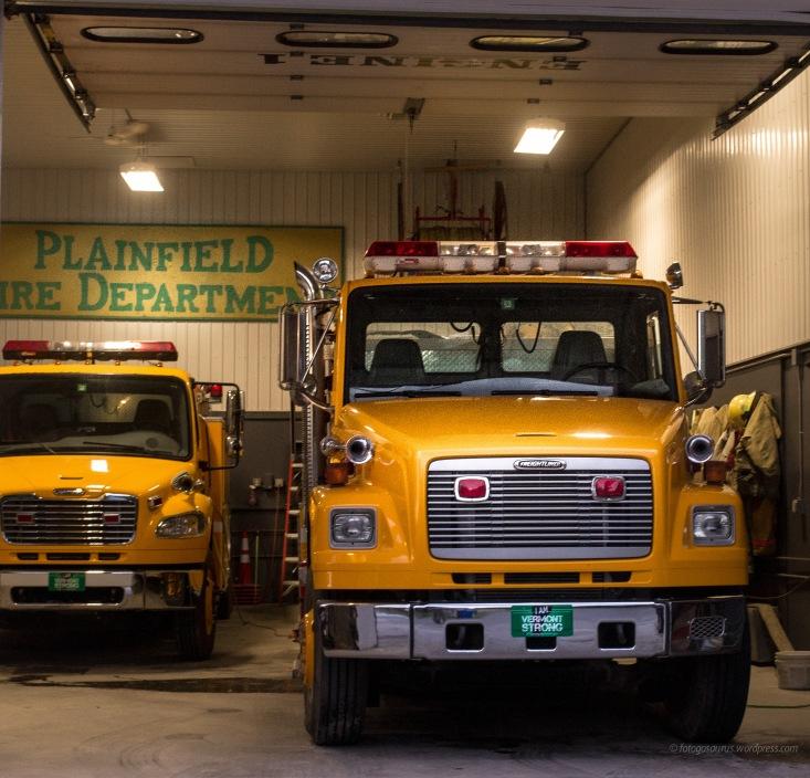 trucks in firehouse