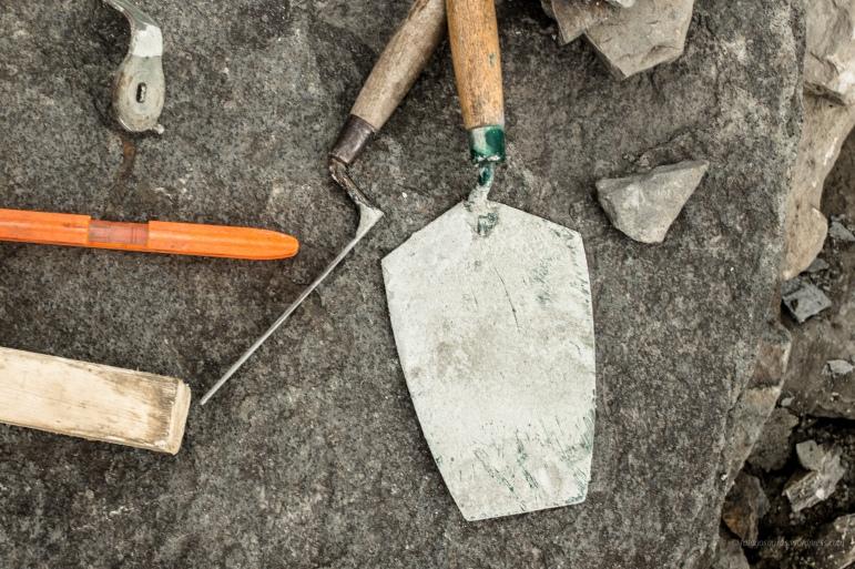 tools on wall