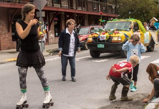 blowing bubbles corner kids