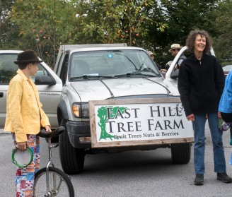 east hill tree farm truck at start