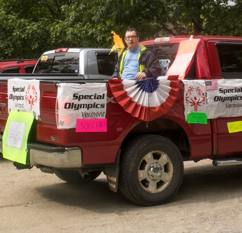 special olympics booster in truck