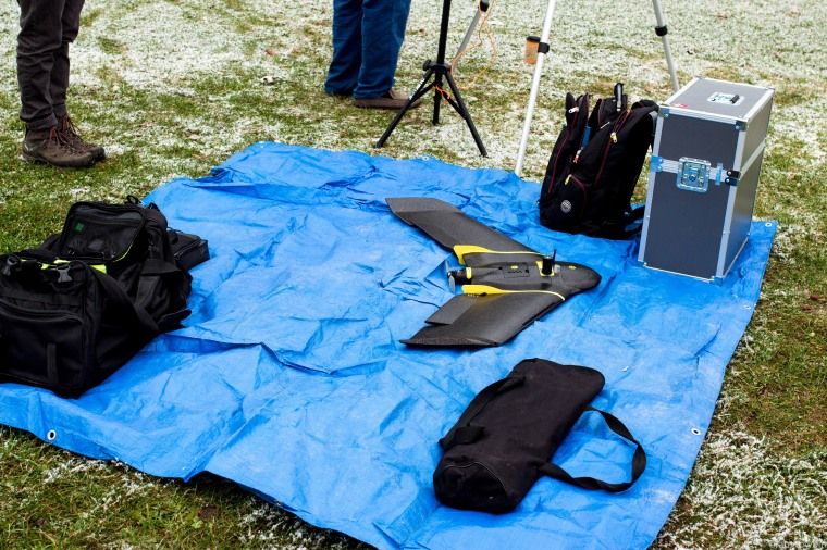 equipment on tarp