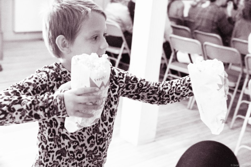 kid with popcorn