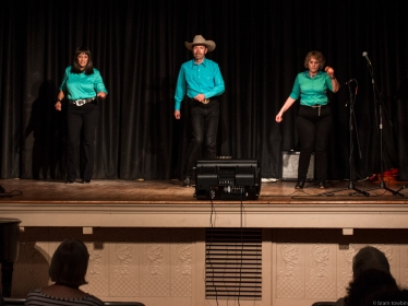 line dancers from front of stage