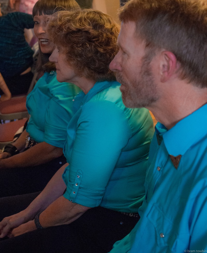 line dancers sitting