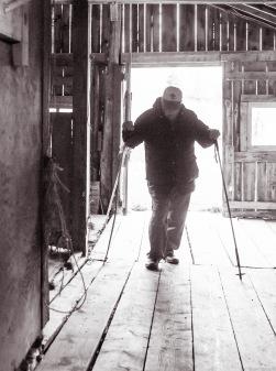 entering the barn