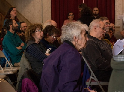 side view crowd